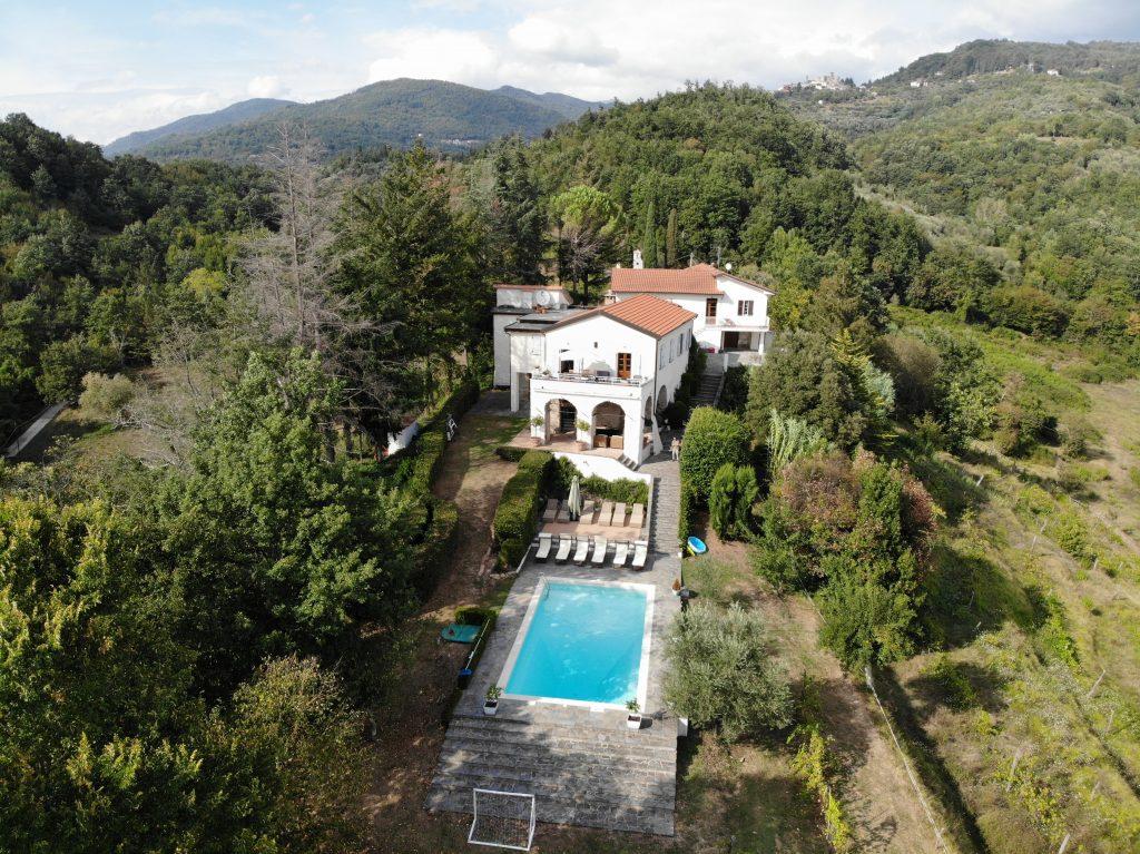 Aerial view of Perivoli Italy